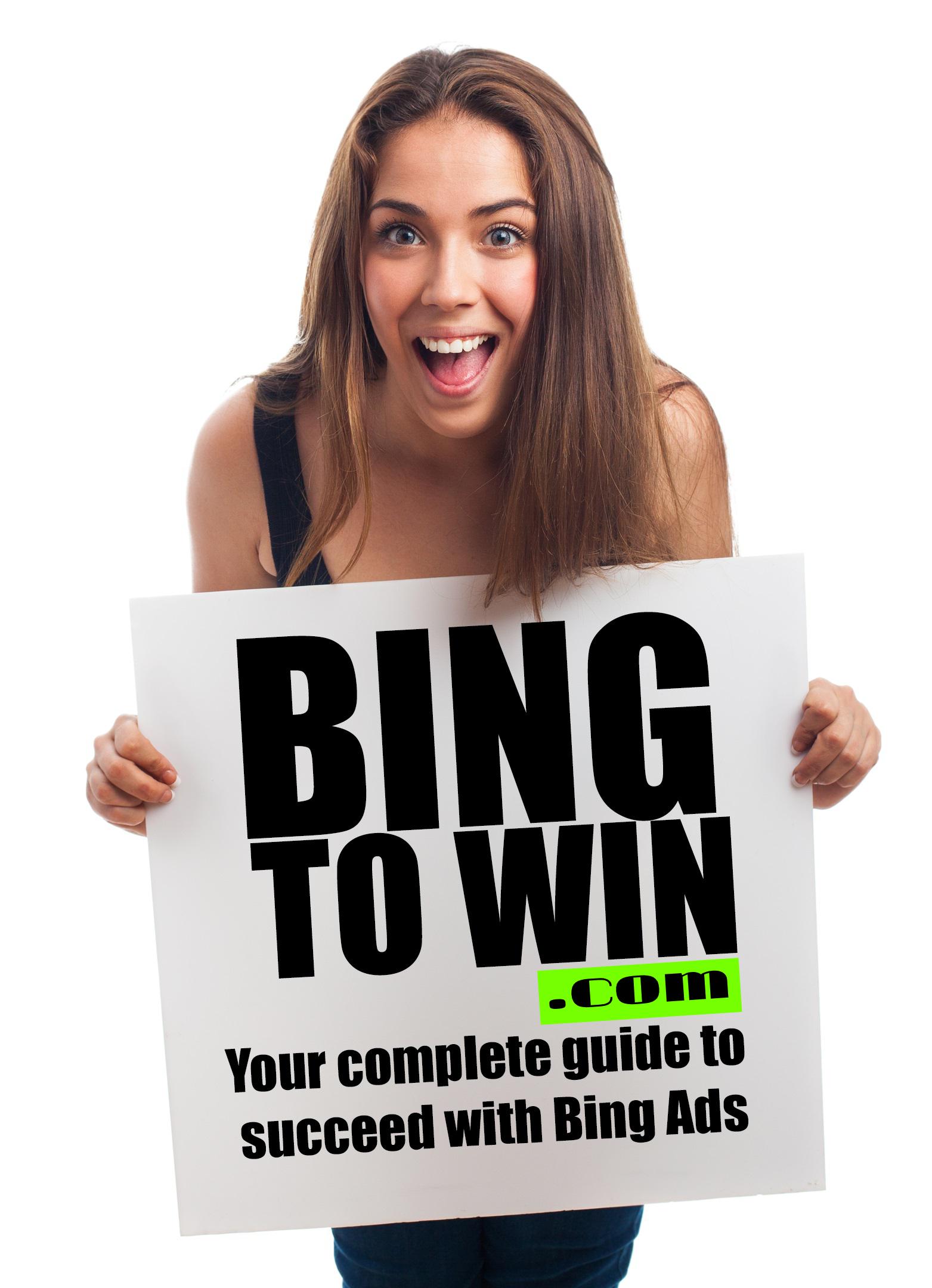 girl holding bingtowin.com sign